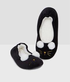 Kapcie koty noir.