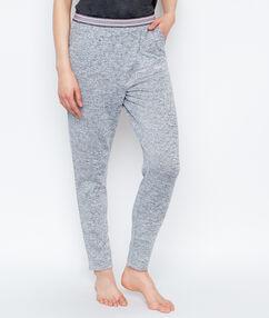 Spodnie z pasem z kolorowej gumy gris.