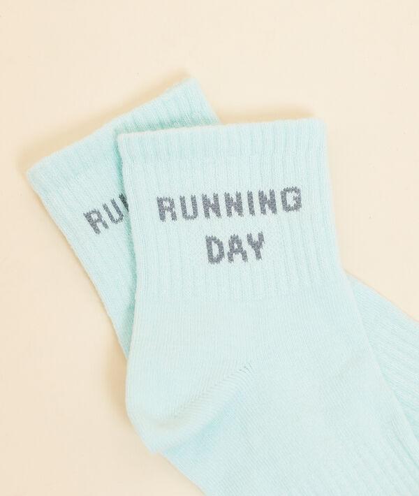 Skarpetki sportowe z napisem 'running day';${refinementColor}