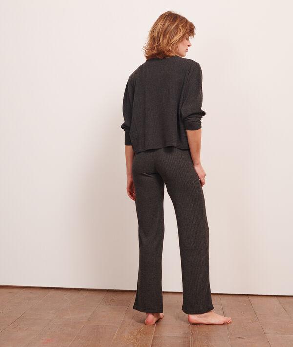 Prążkowane spodnie loungewear;${refinementColor}