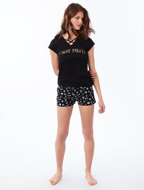 T-shirt z napisem noir.
