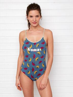 """Jednoczęściowy kostium kąpielowy """"woman"""" multicolore."""