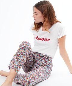 T-shirt z nadrukiem blanc.