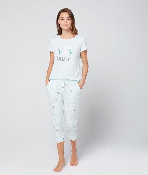 Spodnie 3/4 z motywem syrenich ogonów