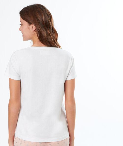 T-shirt z haftowanym napisem