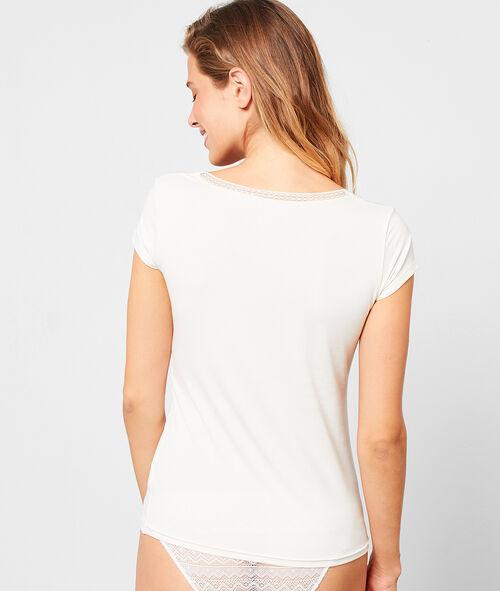T-shirt z krótkimi rękawami i dekoltem w kształcie litry V