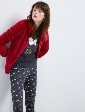 Piżama trzyczęściowa rouge.