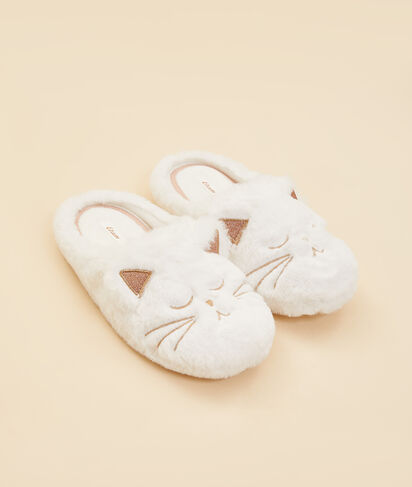 Chaussons mules chat;${refinementColor}