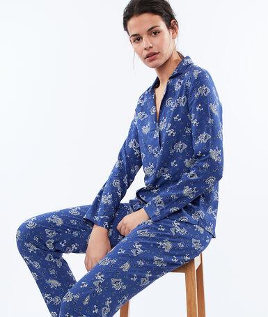 Spodnie w turecki deseń bleu.