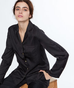 Męska koszula od piżamy noir.