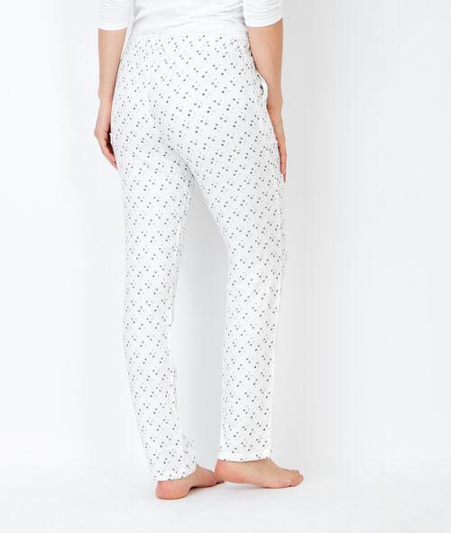 Piżama trzyczęściowa z nadrukiem, z bluzą przytulną