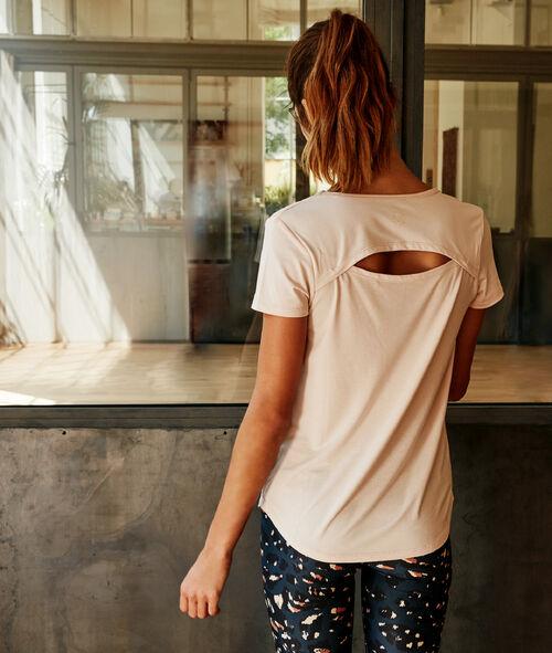T-shirt z wycięciem na plecach