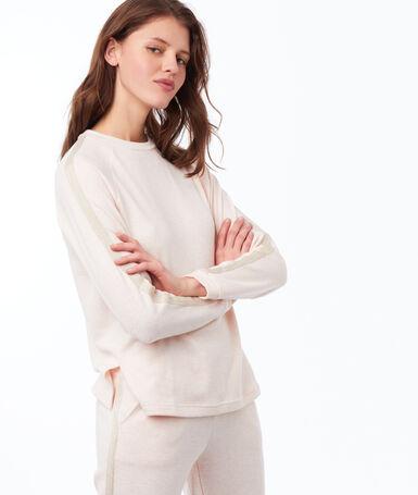 T-shirt w jednolitym kolorze z długimi rękawami rose pâle.