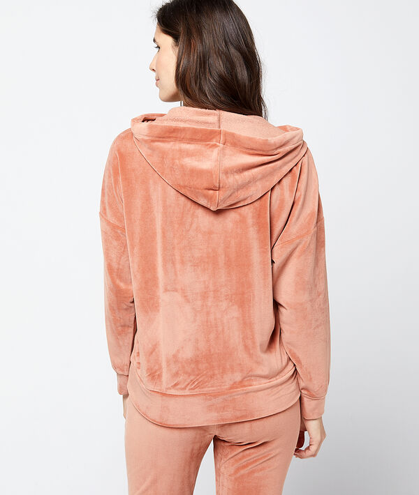 Aksamitna bluza homewear