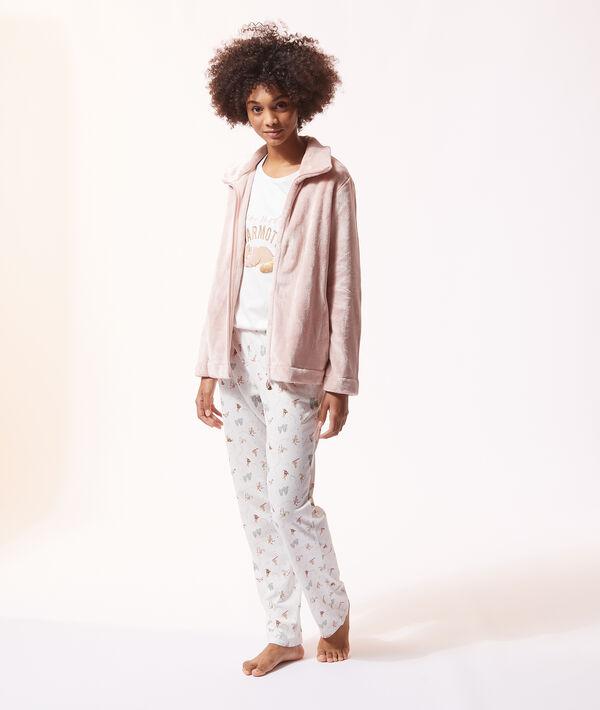 Piżama trzyczęściowa, bluza z polaru;${refinementColor}