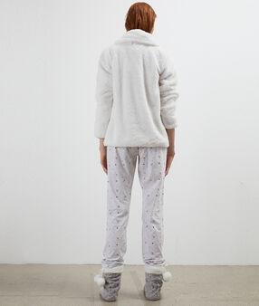 Piżama trzyczęściowa ecru.