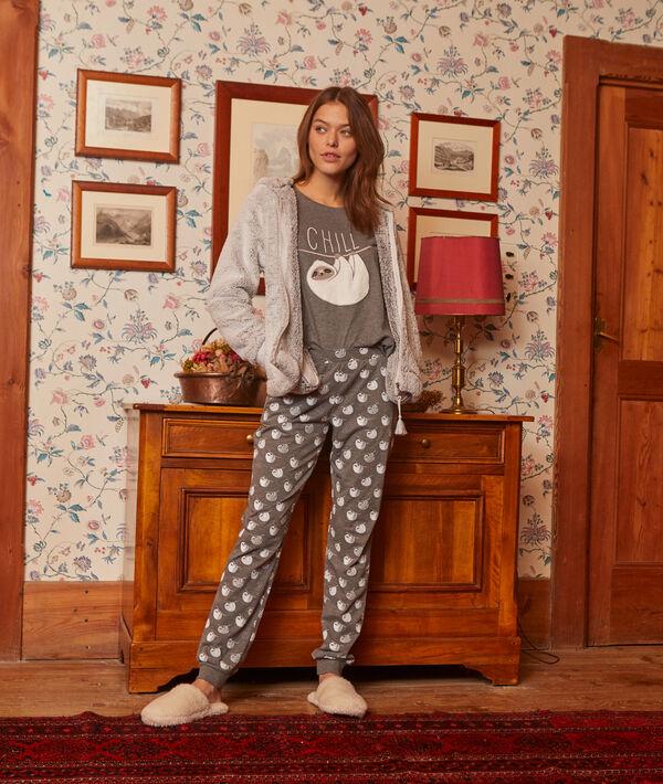 Piżama trzyczęściowa z napisem 'chill'