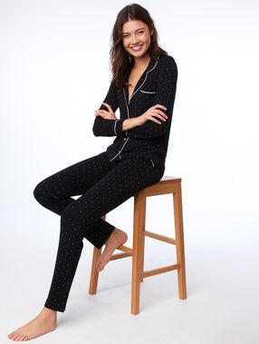 Spodnie od piżamy w groszki noir.