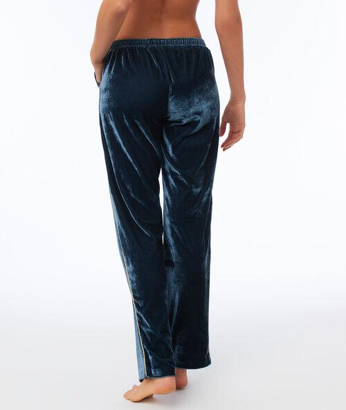 Aksamitne spodnie z ozdobnym paskiem po bokach