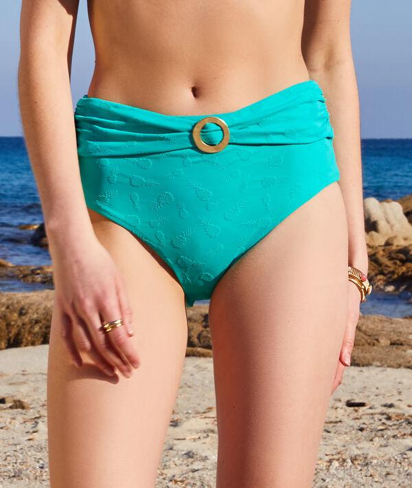 Culotte taille haute jacquard ananas maillot de bain;${refinementColor}