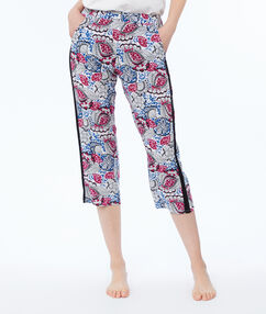 Wzorzyste spodnie 3/4 bleu.