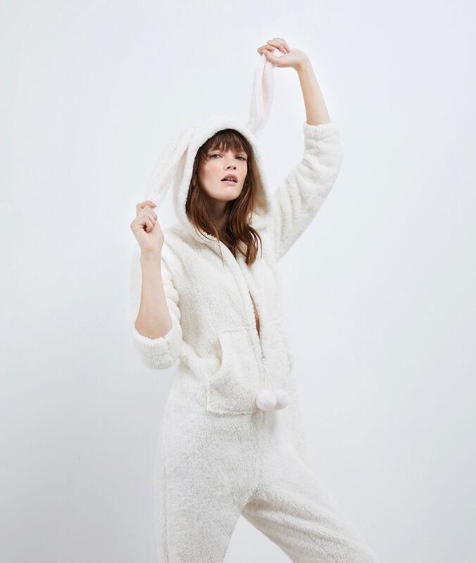 Kombinezon piżamowy królik ecru.
