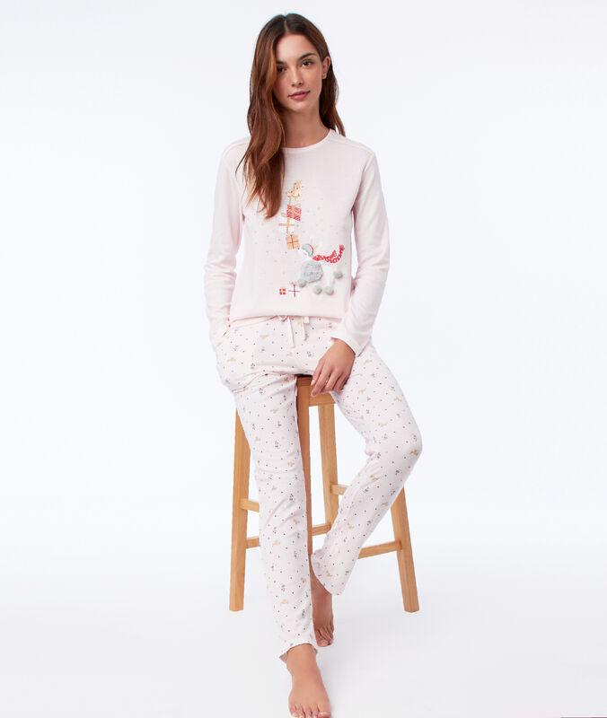 Wzorzyste spodnie od piżamy rose.