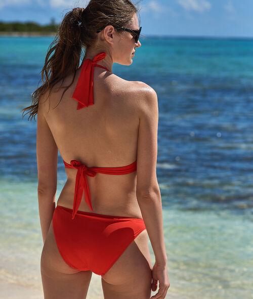 Klasyczny dół bikini, detale z metalowych oczek
