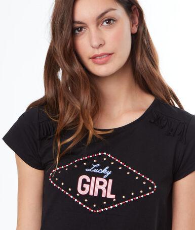 T-shirt z nadrukiem noir.
