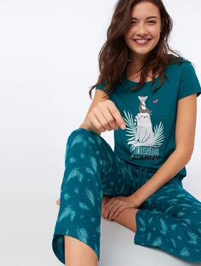 Spodnie z motywem piór vert.