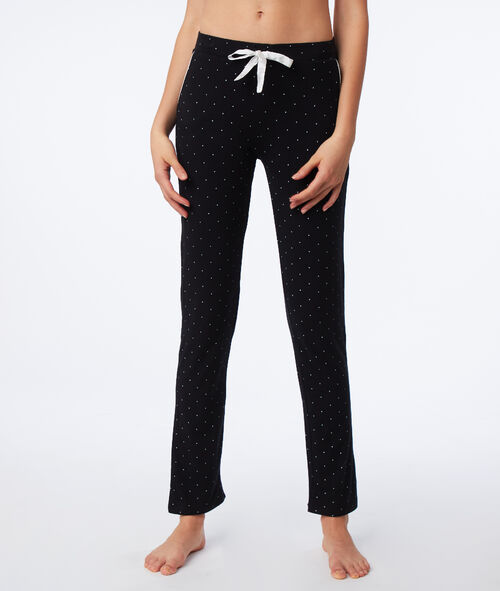 Spodnie od piżamy w groszki