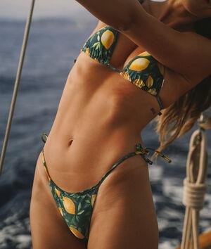 Wiązane majtki bikini od kostiumu kąpielowego;${refinementColor}