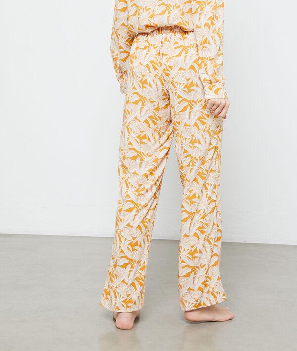 Spodnie z nadrukiem liści;${refinementColor}