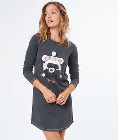Koszula nocna z misiem gris.