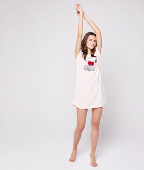Koszulka nocna z nadrukiem snoopy blush.