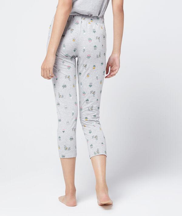 Spodnie capri z organicznej bawełny w kwiatowy deseń