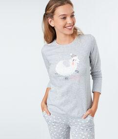T-shirt z motywem baranka gris.