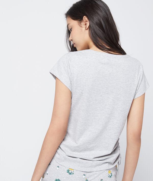 T-shirt z bawełny organicznej z nadrukiem 'accrobranches'