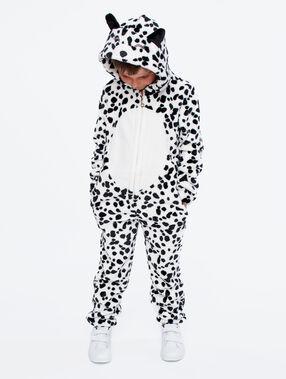 Kombinezon piżamka dla dzieci- dalmatyńczyk ecru.