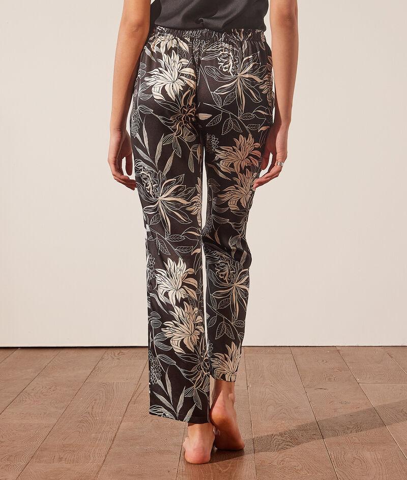 Spodnie od piżamy z kwiatowym nadrukiem;${refinementColor}
