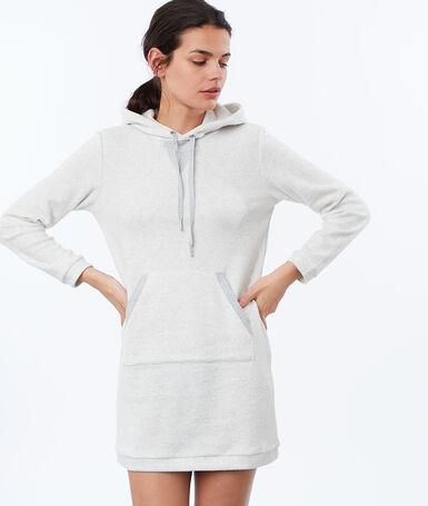 Koszula nocna homewear z moltonu ecru.