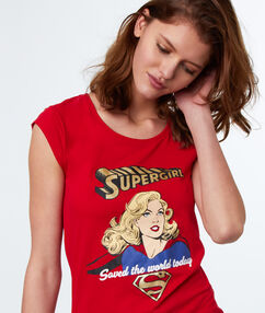 T-shirt z motywem supergirl rouge.