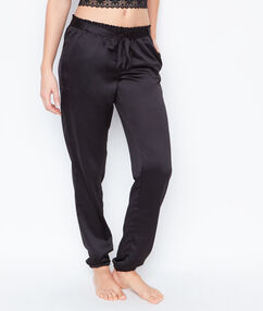 Satynowe spodnie czarny.