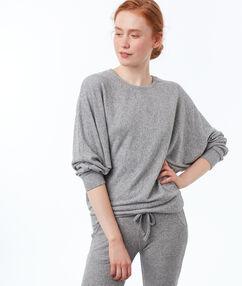 Bluza z dzianiny z rękawami typu nietoperz gris.