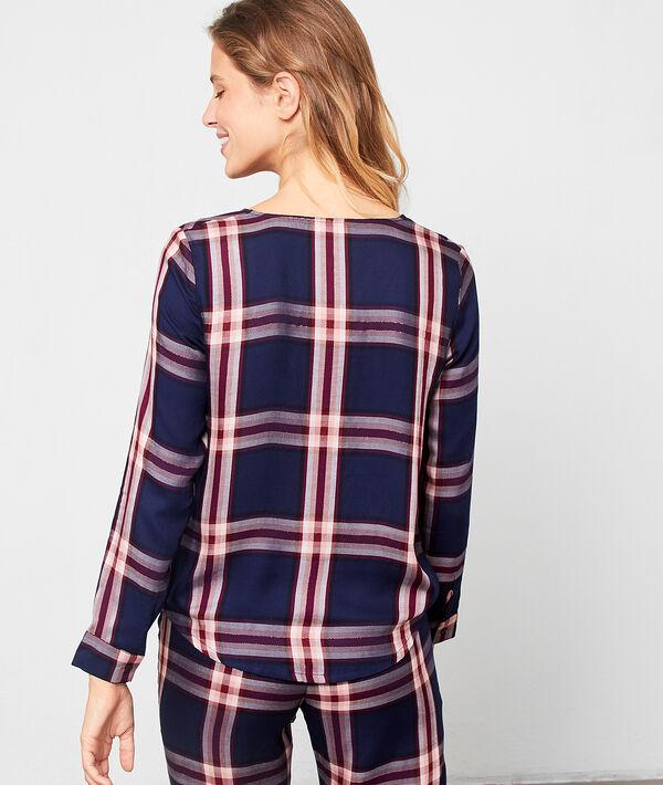Koszula od piżamy z kopertowym dekoltem
