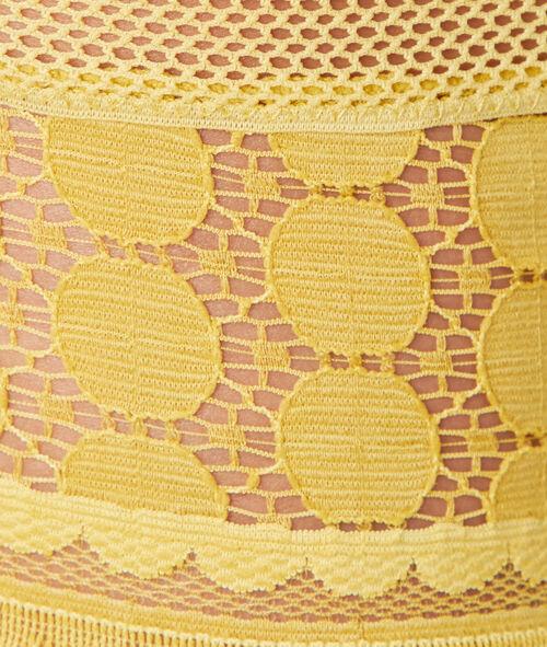 Majtki typu tanga z koronki w groszki