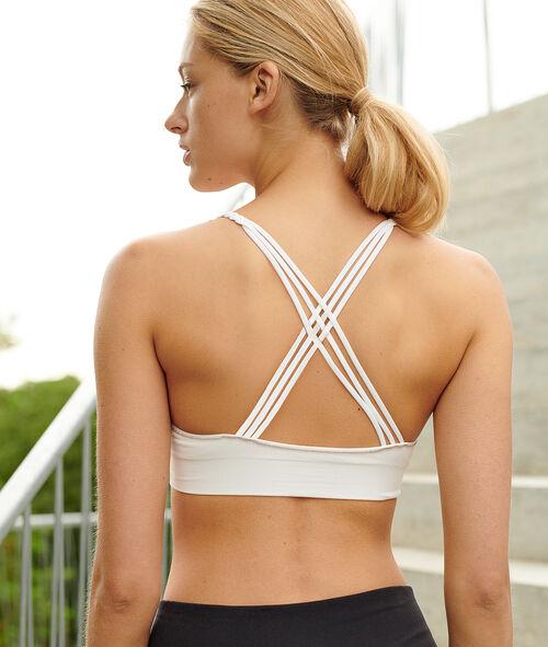 Biustonosz sportowy do jogi - lekkie podtrzymanie