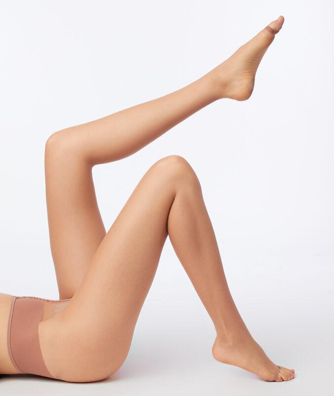 Przezroczyste rajstopy bezpalcowe, efekt gołych nóg dune.