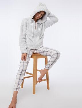 Bluza homewear z kocimi uszkami gris clair.