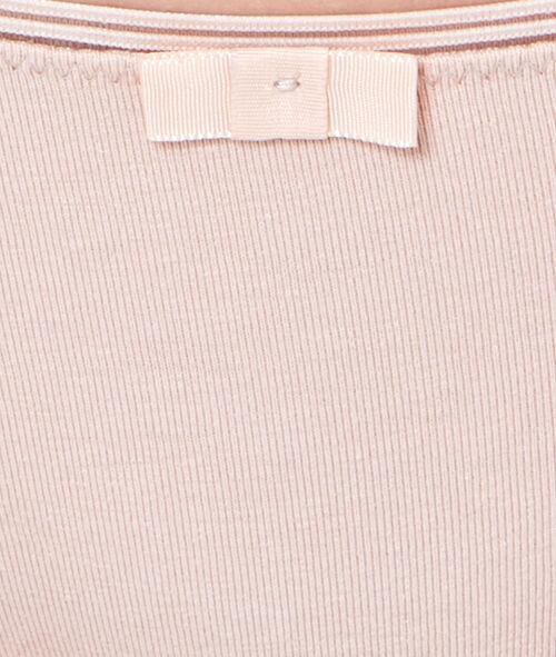 Majtki w jednolitym kolorze, ażurowa wstawka
